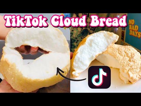 How To Make Tiktok Cloud Bread 3 Ingredient Recipe Tiktok Cloud Bread Recipe Paola Espinoza Youtube