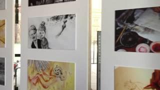 Cartoons on the bay, esposizione all'ingresso del Festival dei ragazzi 2017 a Torino