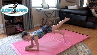 Conditioning Exercises and Tips with Annie the Gymnast | Acroanna