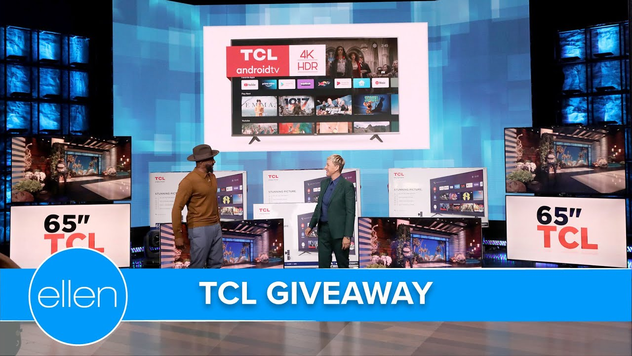 Ellen and tWitch Surprise the Audience with Brand New TCL Android TVs!