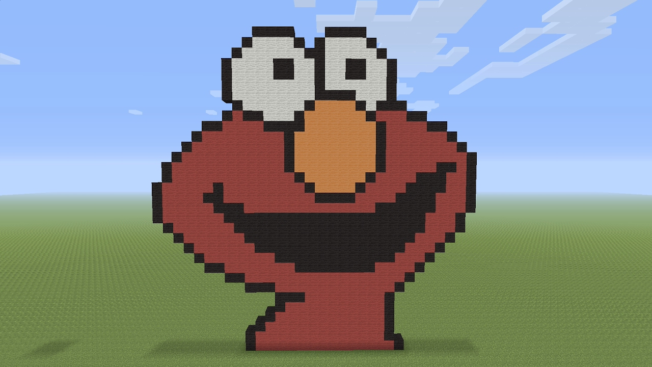 Minecraft Pixel Art - Elmo Head - YouTube