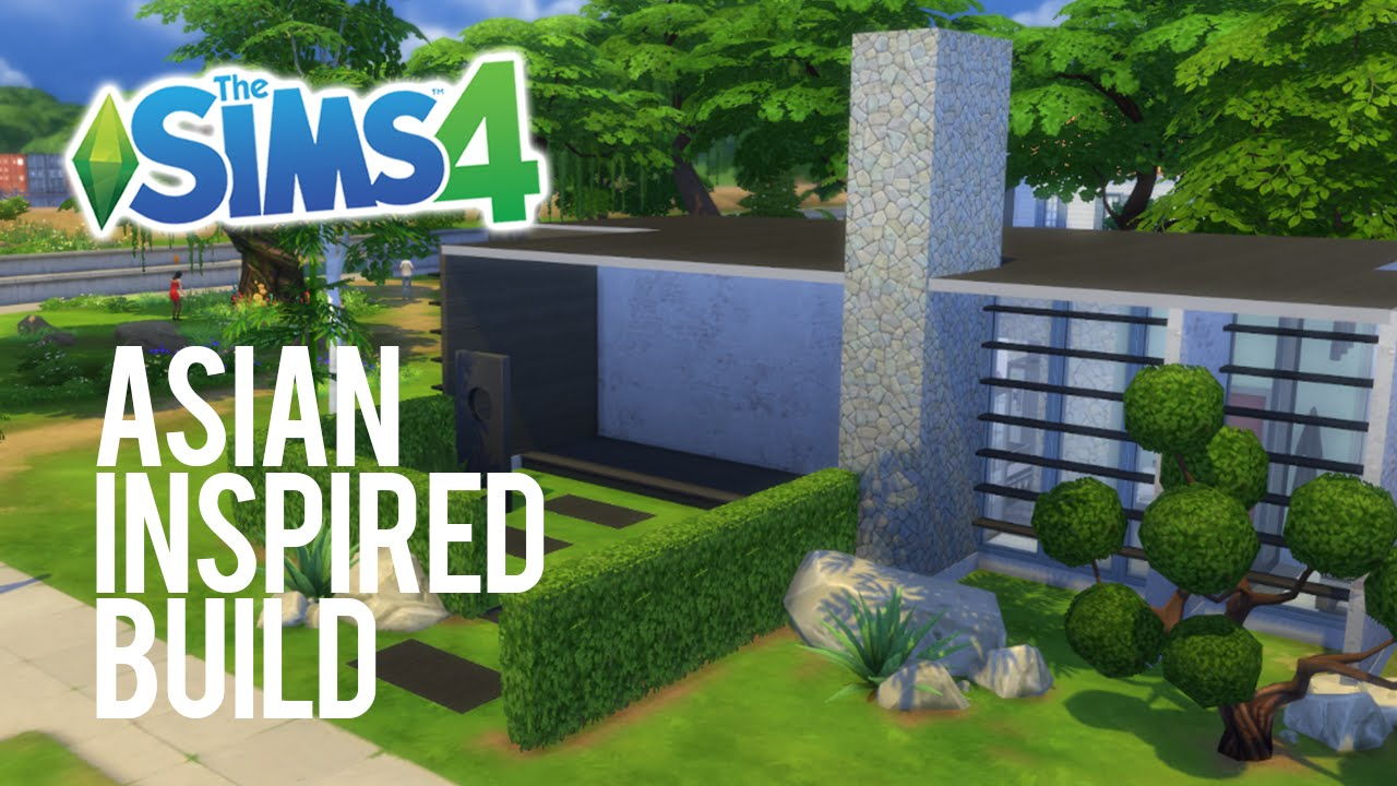 the sims 4 speed build asian inspired   youtube
