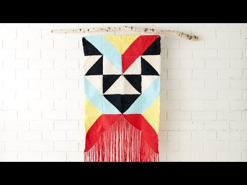 Geometric Wall Hanging Tutorial