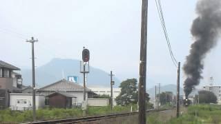 2012.7.21 山口線 大歳駅附近 SLやまぐち号 C57 1