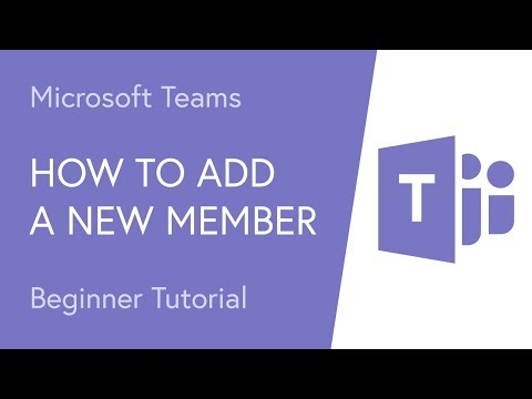 How to Add a New Member to a Microsoft Team