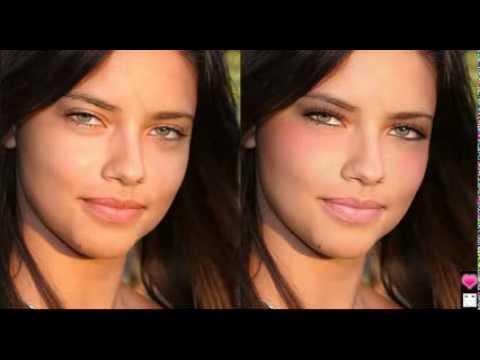 Adriana Lima No Makeup to Virtual Makeovers