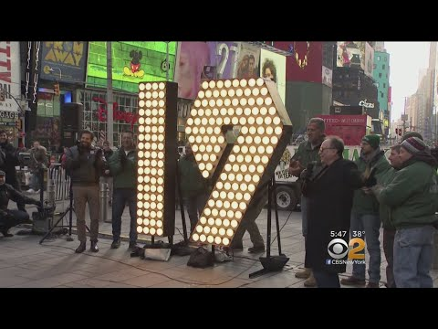Numbers For New Years Ball Drop Delivered To Times Square