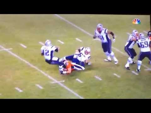 Derek Wolfe sacks Tom Brady Nov, 29 2015