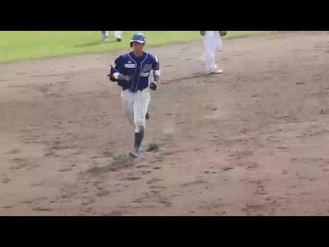 石川MS vs 富山TB 20150705 石突廣彦 第1号ソロホームラン