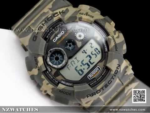Casio G-SHOCK Military Camouflage Sport Watch GD-120CM-5, GD120CM