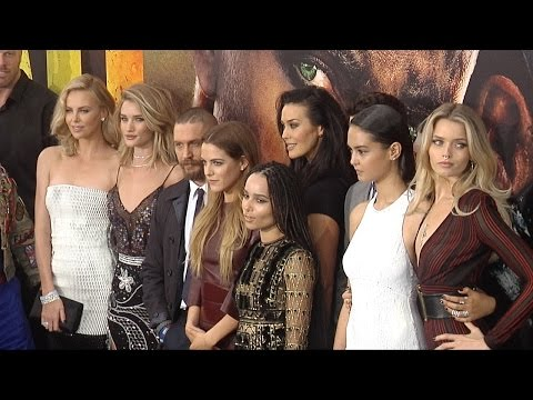 MAD MAX: Fury Road LA Premiere Tom Hardy, Charlize Theron, Rosie Huntington-Whitley