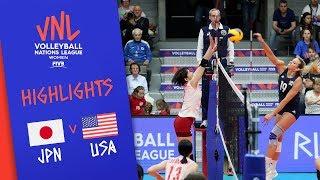 JAPAN vs. USA -  Highlights Women   Week 1   Volleyball Nations League 2019