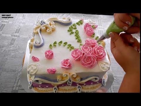 УКРАШЕНИЕ ТОРТОВ - Квадратный тортик 26х26см Cake decoration