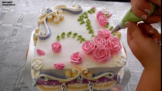 УКРАШЕНИЕ ТОРТОВ - Квадратный тортик 26х26см Cake decoration
