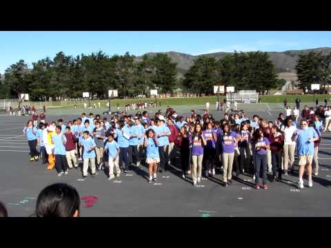 "Alta Loma Middle School Flash Mob to Lady Gaga, song ""Born This Way"" to kick off Anti-Bully Week"