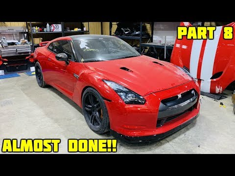Rebuilding a Wrecked 2010 Nissan GTR Part 8