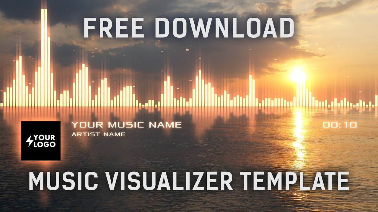 audio spectrum music visualizer after effects template free download youtube