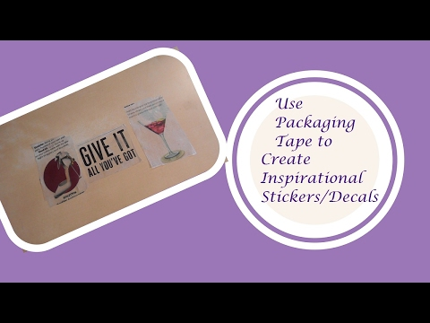 How to Use Packaging Tape to Create Stickers