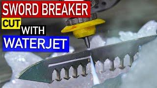 Cutting Damascus Sword Breaker Knife- Alec Steele