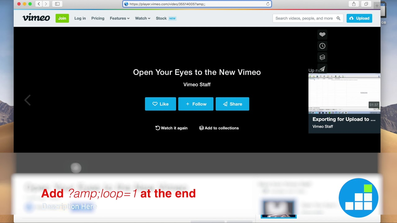 How to make a Vimeo video loop