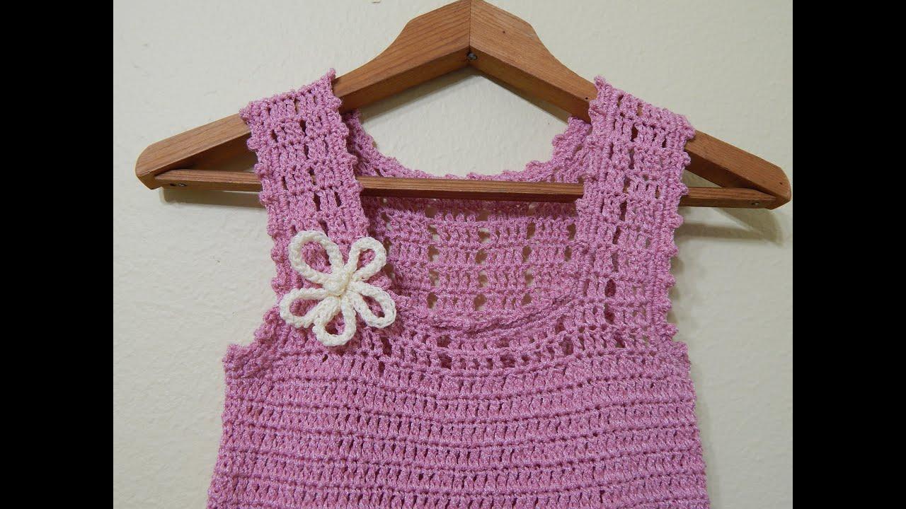 vestido para ni a crochet parte 2 de 3 youtube. Black Bedroom Furniture Sets. Home Design Ideas