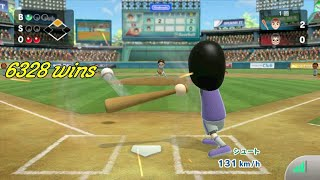 Wii Sports Online : 6328 wins ; playing baseball on wiiu