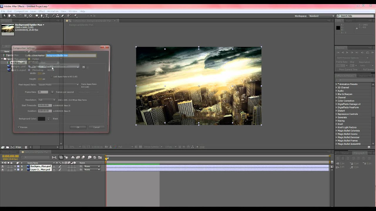How to convert 2d photos to 3d in after effects youtube for Habitacion 3d after effects