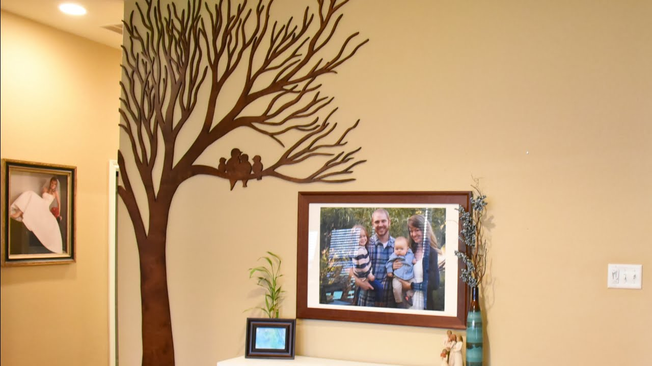 Wood Art for Large Walls - Giant Wooden Tree - YouTube