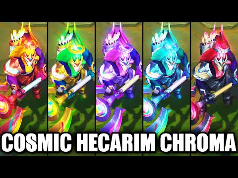 All Cosmic Charger Hecarim Chroma Skins Spotlight (League of Legends)