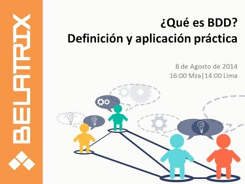 Webinar ¿Qué es el Behavior Driven Development?