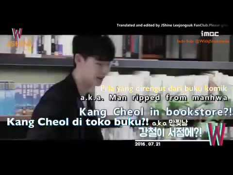 [2016, Aug 10th #W #WTwoWorlds Ep.05 | Indo Sub: @WithJSIndonesia] Bookstore Making the video...