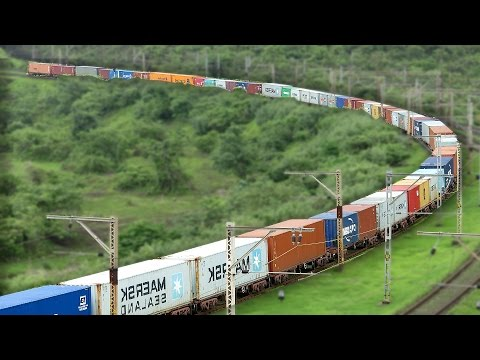 FREIGHT Trains Paradise BHOR GHATS : Indian Railways