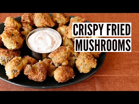 Crispy Breaded Mushroom Bites