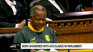Boks showered with accolades in Parliament
