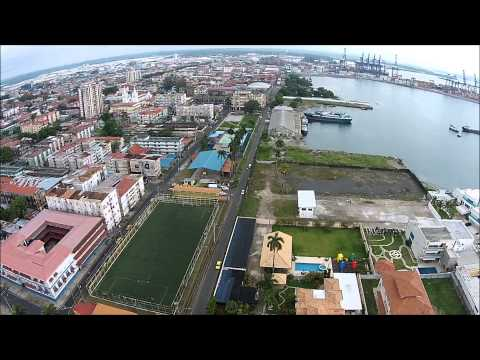 Colon City view Panama Canal Atlantic w/ DJI Phantom 2 Vision Plus