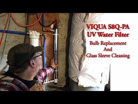 VIQUA S8Q-PA UV Water Filter Bulb  Replacement And Glass Sleeve Cleaning