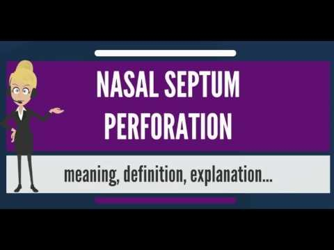 What is NASAL SEPTUM PERFORATION? What does NASAL SEPTUM PERFORATION mean?