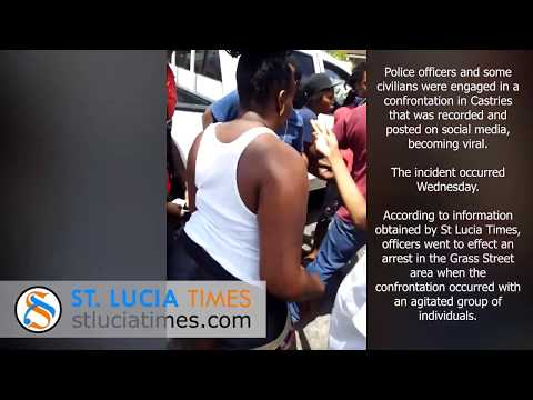 Police And Civilians In Viral Confrontation In Castries Saint Lucia