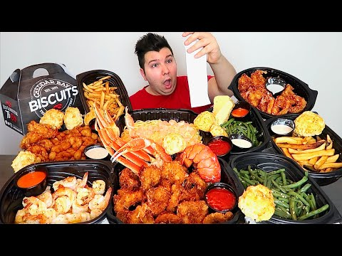 $100 Worth of Red Lobster • MUKBANG