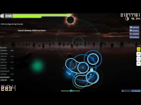 Osu! song: 9mm Parabellum Bullet - Inferno - Agonizing Insane - S