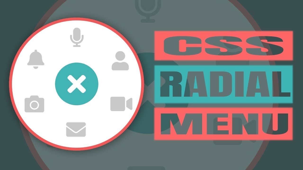 Awesome Radial Menu - Circle Menu CSS (UM TUTORIAL)