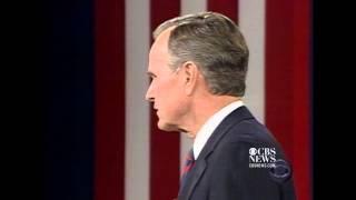 Famous debate moment: Bush, Sr. checks his watch in 1992