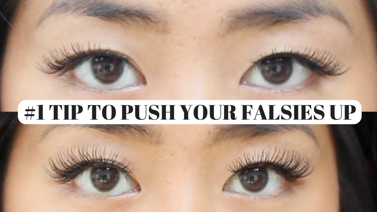 How To Push Your Falsies Up For Hoodedmonolids Youtube