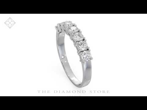 FT32 - Chloe 7 Stone Diamond Eternity Ring 1.00CT