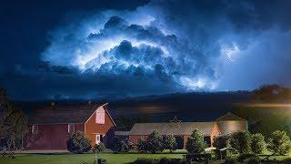 VIGOROUS LIGHTNING AND THUNDER - Storm Time Lapse 4K
