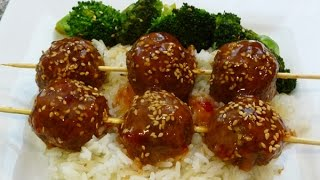 Asian-Style Meatballs, sweet chilli sauce, recipe, Chinese food,