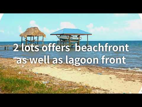 BMA Placencia Belize Real Estate -  Plantation Lots – Beach and Lagoon – Combo Package L367