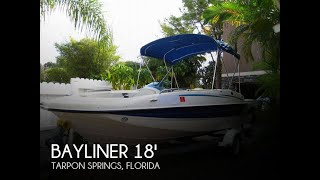 Used 2006 Bayliner 197 Deck Boat for sale in Tarpon Springs, Florida