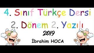 4. Sınıf Türkçe 2. Dönem 2. Yazılı (örnek 5 2019)