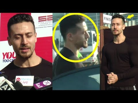 Tiger Shroff Spotted In His New Look For Baaghi 2